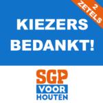 BEHOUD TWEEDE ZETEL SGP-HOUTEN!